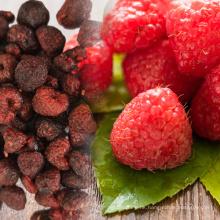 quality dried sugar-infused raspberry