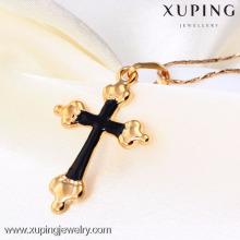 31346-Xuping Custom religion jewelry common 18k pendant cross