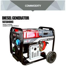 Consumo de combustível do gerador a diesel por hora gerador diesel portátil com arranque elétrico