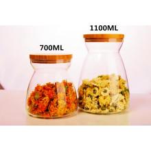 Производитель Чай Хранение Кухня Боросиликатное стекло Бутылка для хранения чая Бутылка для хранения