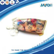 Bolsa de microfibra para gafas con cordón