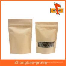 food safe biodegradable kraft paper bag with window for food