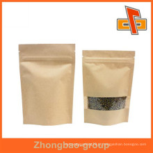 Alimento, segura, biodegradable, kraft, papel, saco, janela, alimento