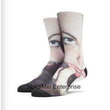 Chaussettes en gros Sublimation personnalisée impression personnalisée Polyester imprimé