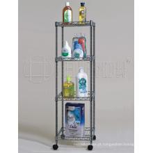 Quadrado de metal cromado prateleira rack banheiro, DIY & K / d estilo (cj-c1037)