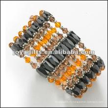 "Magnetic Glass Beaded Wrap Bracelets & Collier 36 """