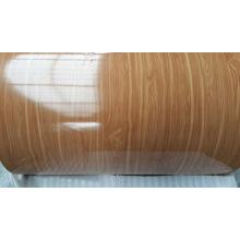Bobina de aluminio de grano de madera