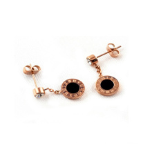 new design women rose gold model fingernail posts earrings jewelry