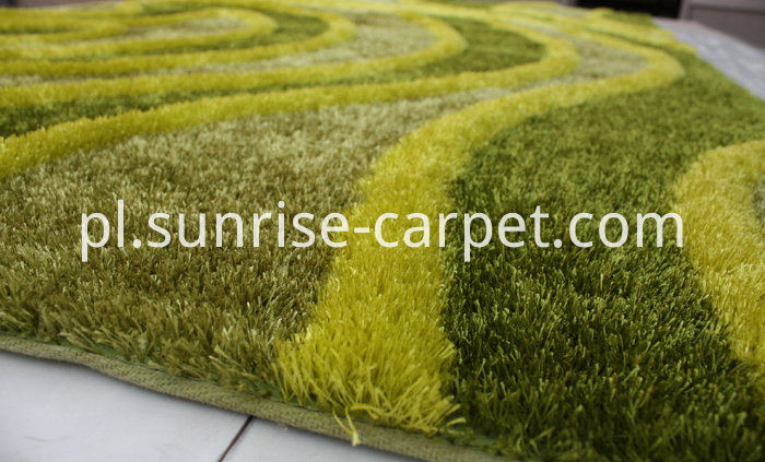 Polyester Shaggy Rug thick yarn with 3D design