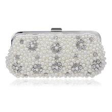 Crystal Pearls Women's Evening Dinner Clutch Bag Bride Bag For Wedding Evening Party Bridal HandBags B00101 bridal accessory