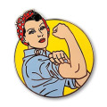 Classic Iconic Rosie Riveter Enamel Pins