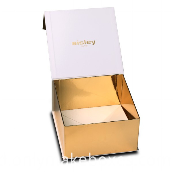 Cailang Printing Gold Paper Collapsible Gift Box with Side Way Folding