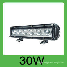 Hot sale CE&ROHS 30W IP68 DC10v-30V offroad led work light bulb,3 years warranty