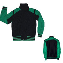 Yj-3001 Green Black Microfiber Sports Sporty Jacket