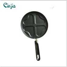 Carbon Steel Heart Shape 4 Eggs Frying Pan