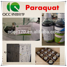 Hot sale herbicide Paraquat 42%TC 200g/L 20%SL CAS 1910-42-5
