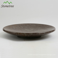 Thanksgiving Decorative Yellow Round Marble Stone Fruit Platters