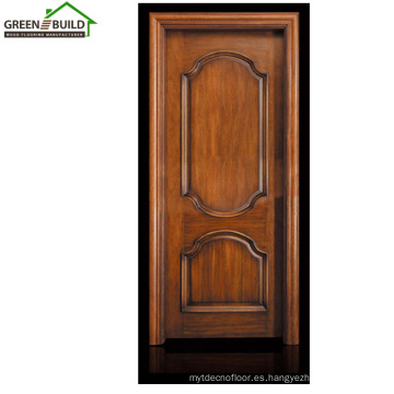 Diseños de puerta única de madera de Guangzhou Teca