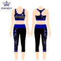 Cropped Trousers Yoga Weste Cheerleader Uniformen