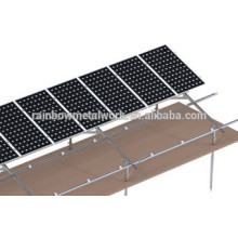Sistema de bastidor de montaje de PV solar de tierra de acero