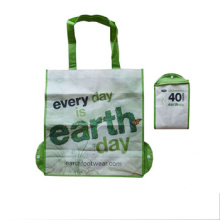 Wholesale rpet pp non woven promotional tote shopping foldable bag