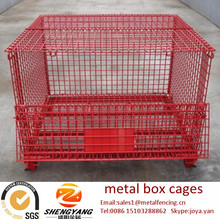 Great forklift available transport steel containers loading 250-2500kg warehouse cages galvanized anti corrosion metal box cages