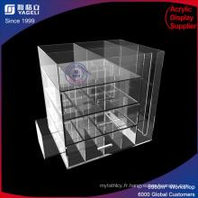 Station de café acrylique avec tiroirs pour cup cup pods