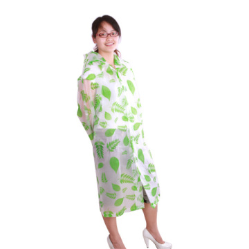 Long design printing eva raincoat