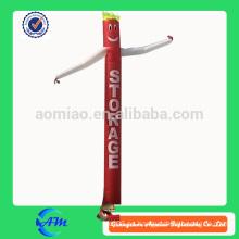 Publicidad de alta calidad de la insignia de impresión inflable aire bailarín mini inflable aire tubo hombre