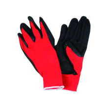 13G Polyster Liner Glove with Latex Coated, Wrinkle Finished