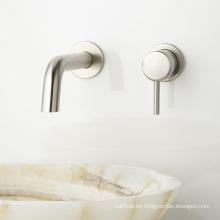 Mezclador de lavabo de latón macizo y mezclador de lavabo monomando de pared
