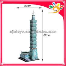 Schöne 3D Papier Puzzle DIY Spielzeug Architektur Modell Taipei 101 Gebäude Puzzle