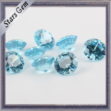 Ablaze Blue Aquamarine Color Brilliant Cut CZ Piedras preciosas