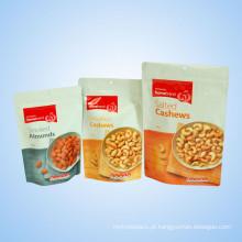 Plástico Ereto Zip Bag para Snack Dry Food