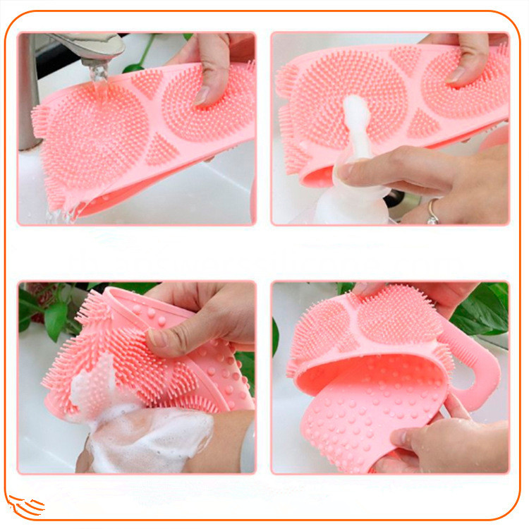creative back rubbing mud bath towel