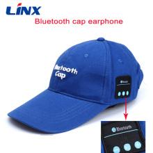 Fone de ouvido sem fio com música Bluetooth para boné de beisebol