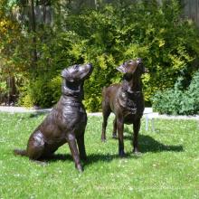 Bronze Dog Labador Retreiver Estátua para decoração de casa