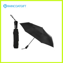 Black Color Two Fold Auto Open Umbrella