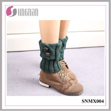 2015 Europe Winter Wool Button Leg Warmers Warm Feet Socks