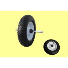 Полное резиновые колеса 400-8 света типа с осью