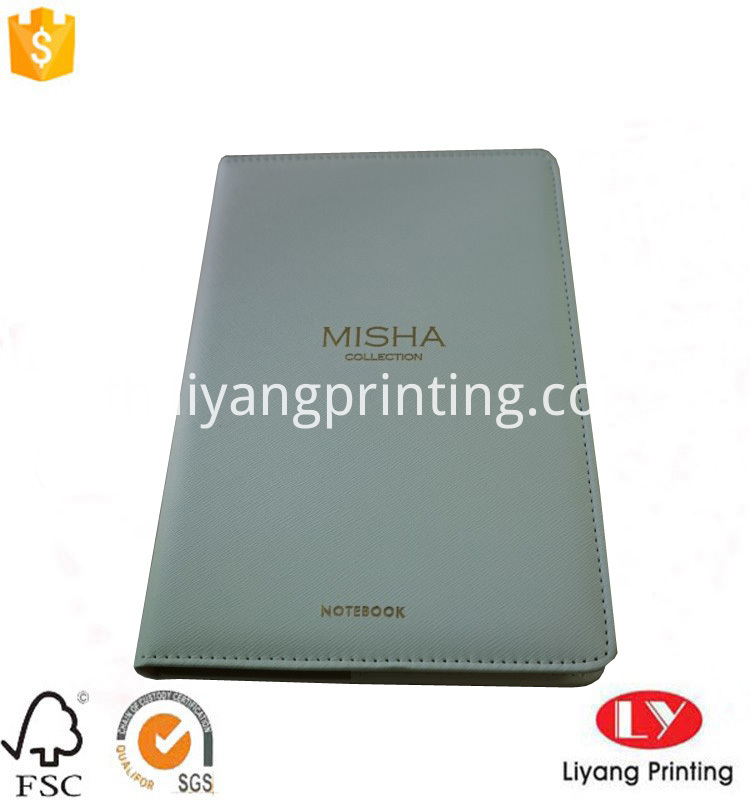 notebook with color edge