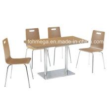 Einfache Stil MFC Bistro Lange Tisch Set (FOH-BC22)