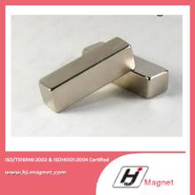 Alta potência forte neodímio N35-52 bloco ímã fabricado em linha de alta qualidade