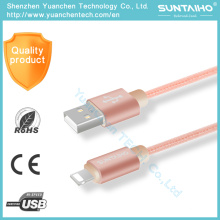 Nylon Fast Charging 8pin USB Sync Data Lightning Cable para iPhone