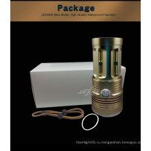 Защита от дождя с защитой от скольжения мощный фонарик со светодиодной подсветкой золотой фонарик