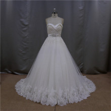 Queen glaring crystal wedding dresses plus size 34