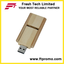 16GB do giro bambu e madeira estilo USB Flash Drive (D808)