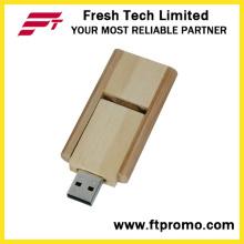 16GB Swivel Bamboo&Wood Style USB Flash Drive (D808)
