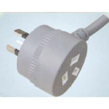 Cable de corriente AC de aprobación de SAA FS-3F
