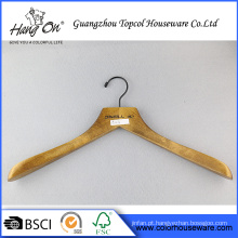 Cabide de ombro largo de madeira do vestuário
